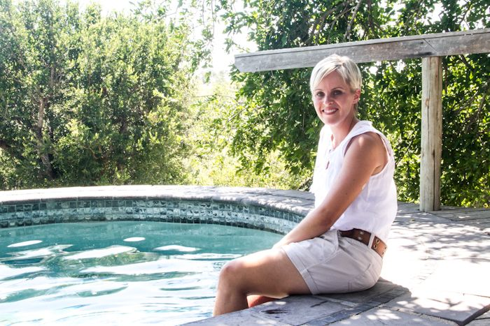 Erin Bezhuidenhout has worked at Londolozi for two and a half years. She is a qualified physiotherapist but has a background in conservation management as well as tourism and hospitality. Photograph by Kate Collins