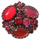 Konplott Ring Orchid Hybrid red