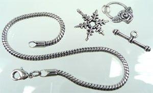 PandoraStyle Armband ± 22-24 cm. met extra sluiting.