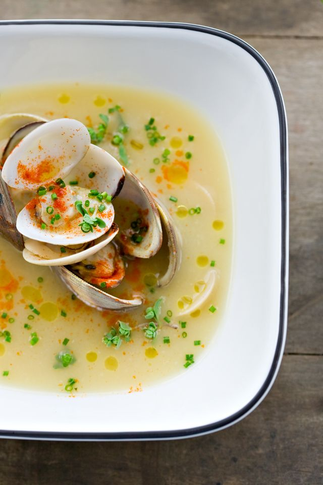 Clams in a Light Shallot and Pernod Broth