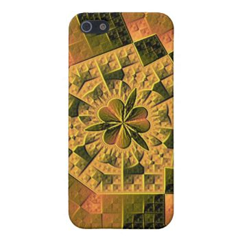 Trendy hard abstract pattern with strong color with a clover leaf in the middle, giving it unusual and stylish look for any product. You can also Customized it to get a more personally looks.