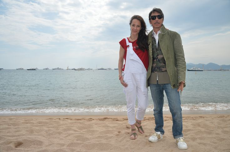 Pierpaolo Piccioli and Julie Brangstrup in Cannes, for the last stage of the Cash & Rocket 2015 tour.