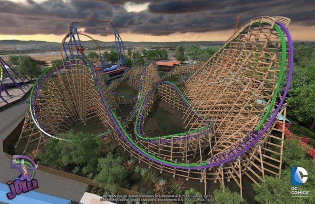 Le Joker aura bientôt sa montagne russe dans l'un des parcs à thèmes de Six Flags (VIDÉO)