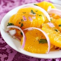 Insalata di Arance: A Sicilian Orange Salad, the perfect combination of sweet and salty. Great as a snack or appetizer.