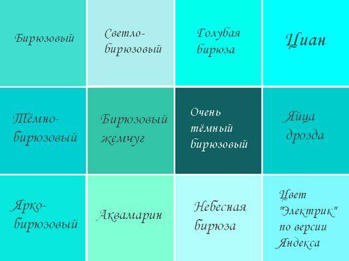 Картинки цвет бирюзовый