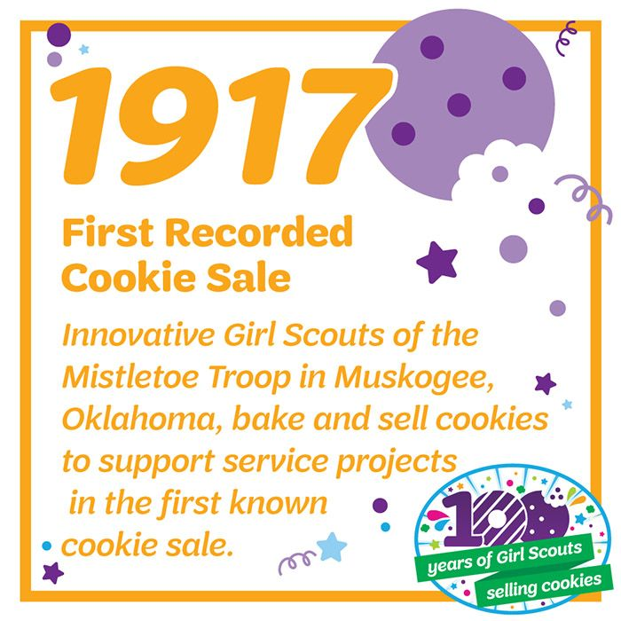In celebration of our 100th anniversary of Girl Scouts selling cookies, we're sharing some fun cookie facts! What is one of your earliest memories of selling Girl Scout cookies?