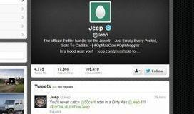 Cuenta de Twitter Jeep atacada por hackers