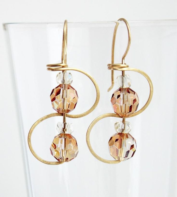 continuous earring to earring wire with crystals by Spaghetti Western