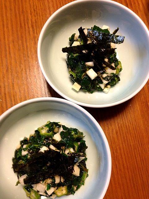 副菜③ - 61件のもぐもぐ - 長芋、モロヘイヤ、オクラのネバ和え by kamasann