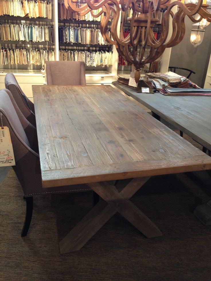 Love the solid wood dining table