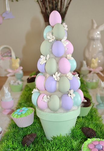 Easter Egg tree, cute!