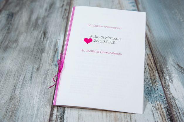 """Hochzeitskarten - Kirchenheft """"für immer & ewig"""" ap... - ein Designerstück von Formatreich-Hochzeitskarten bei DaWanda"""