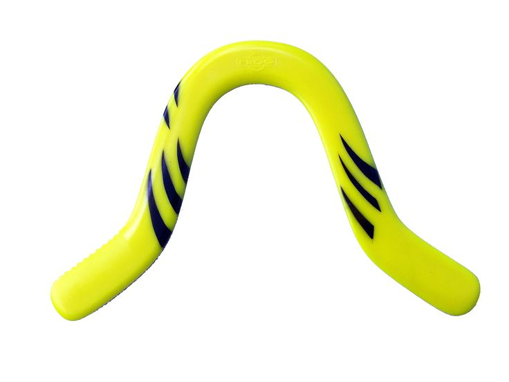"""Yellow Omega Boomerangs - For Kids 10-70 years old!. Great Returning Boomerang with Omega Shape for Precise Control!. Light weight and durable. For light to medium wind conditions. Modern Art Design - Durable Plastic. Includes our exclusive """"How to Throw Boomerangs"""" Guidebook."""