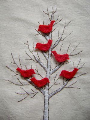 birds in tree quiet book page