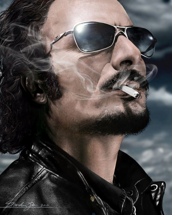 Kim Coates as Tig - Sons of Anarchy - Sheridan Johns (digital painting, not a photo)