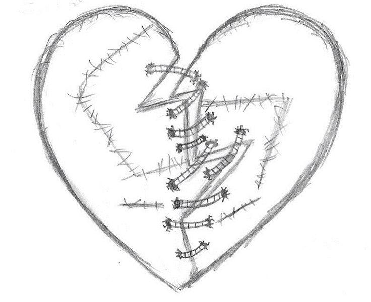 Genaaide hart schets ✨