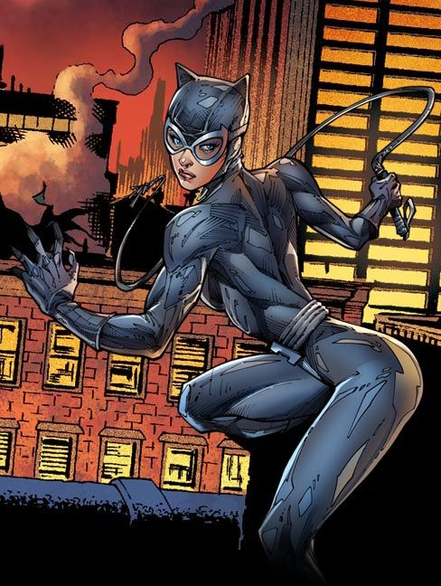 jim lee city | Fight takes place on the rooftops of Gotham City, at night.