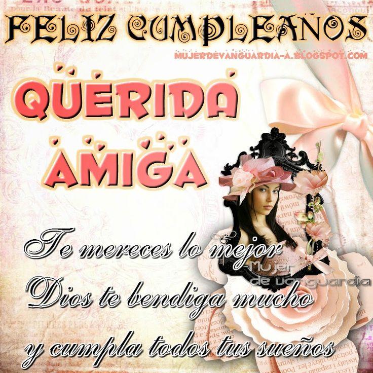 Tarjeta Nueva De Feliz Cumpleaños Amiga