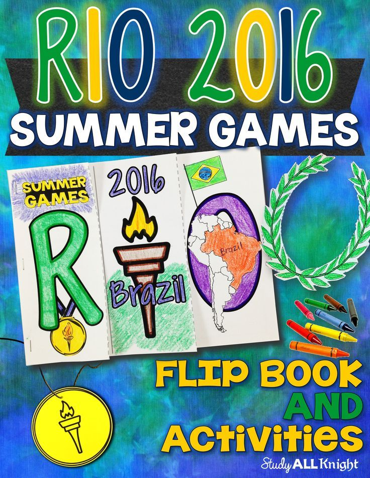 Summer Games Rio 2016 Flip Book and Activities ($)