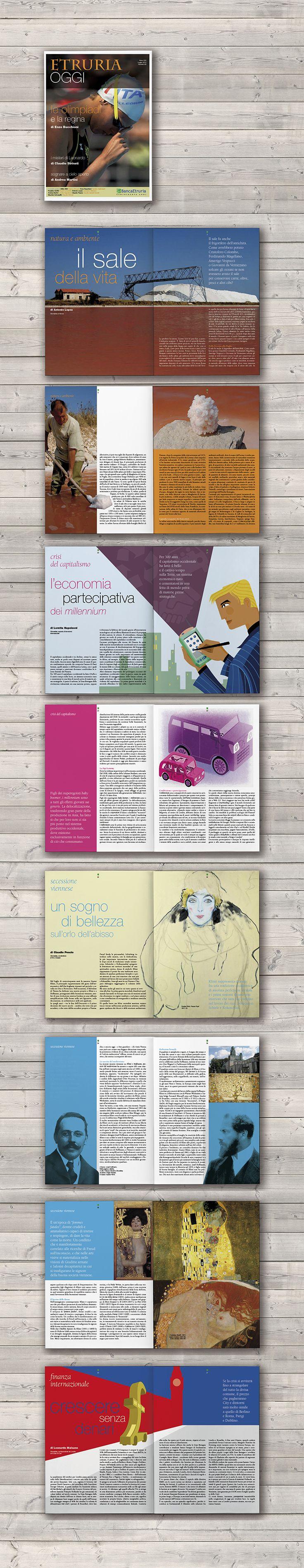 Cover and magazine design / Magazine / Banca Etruria