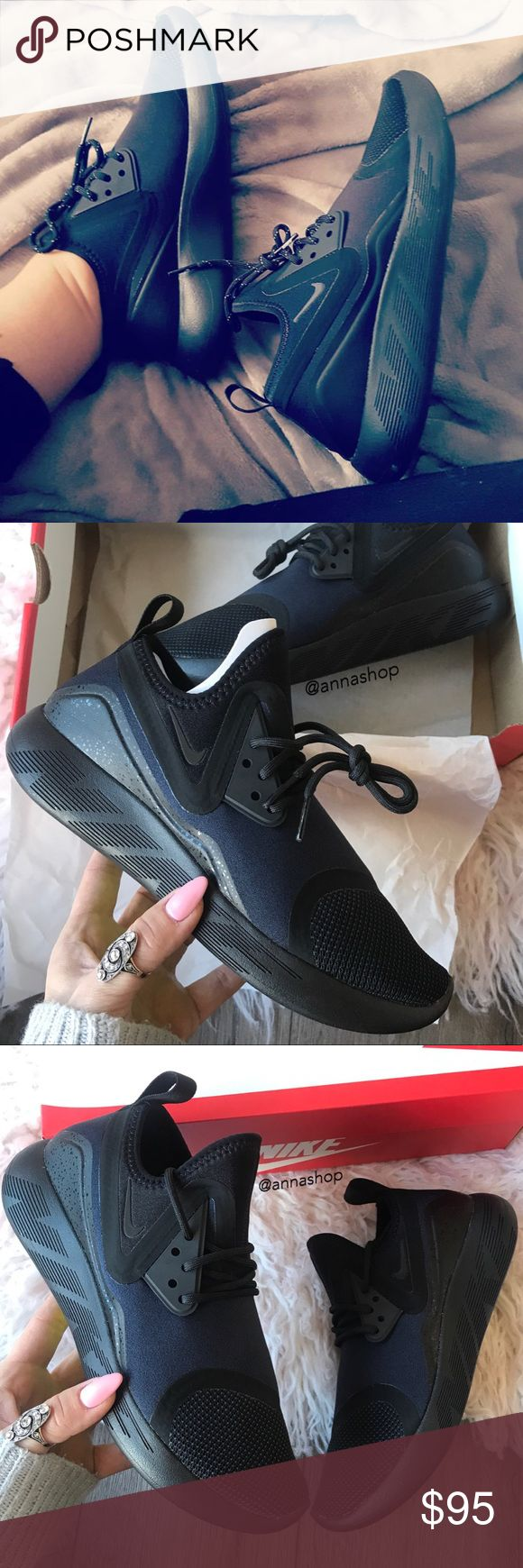 black leather nikes lunarlon womens nike