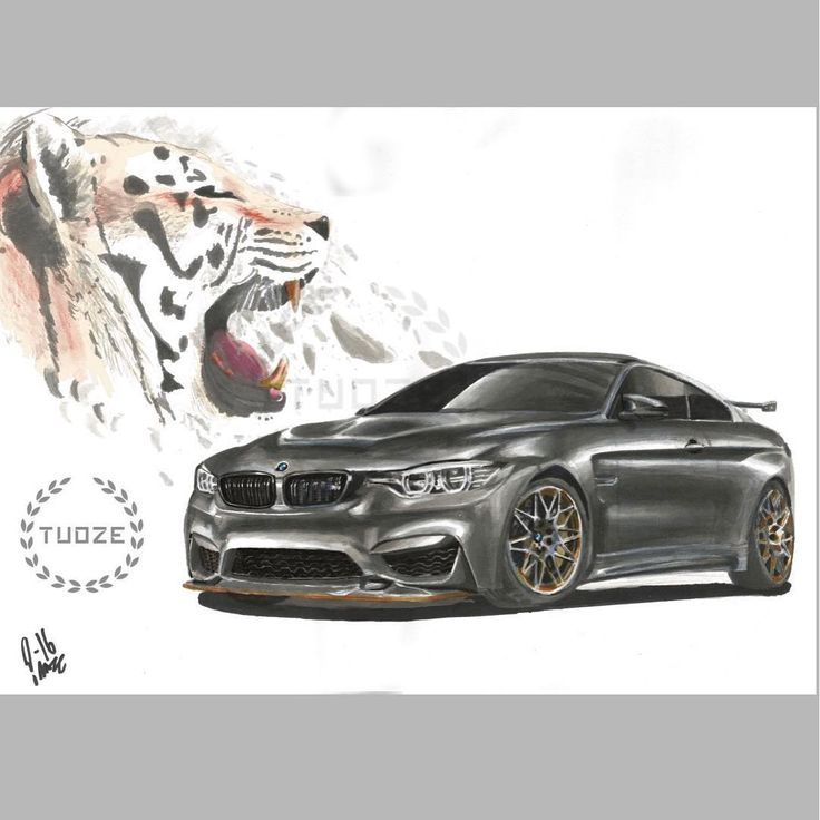 BMW M4 marker painting