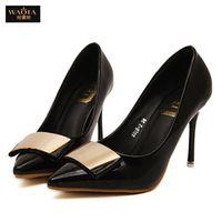 2015 сексуальные высокие каблуки девушка острым носом обувь женская ну вечеринку туфли на высоком каблуке летний стиль zapatos mujer розовый и черный размер 35-39 горячие продаж