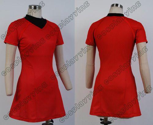 Star Trek Into Darkness Uhura Costume Dress s XL Size | eBay  Great look at seams