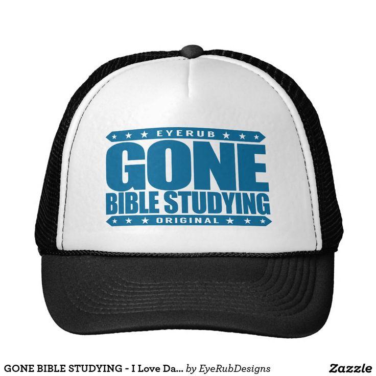 GONE BIBLE STUDYING - I Love Daily Gospel Reading Trucker Hat, Deep Ocean Blue Design - #pope #vatican #holyfather #bibleverses #scripture #religion #god #bible #jesus #jesuschrist #catholic #christian #church #prayer #faith #biblestudy