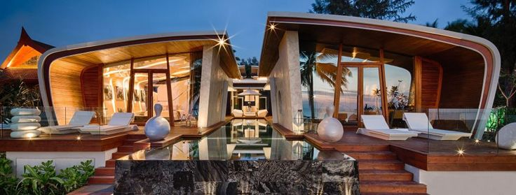 Phuket Villas, Iniala Beach House, Villa Bianca, View from Beach