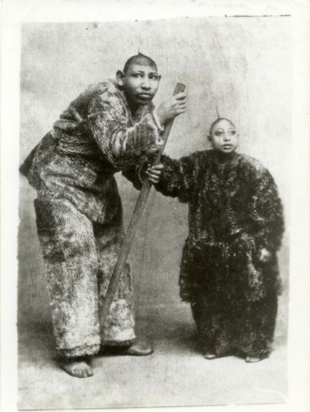 Godino and Apexia, brother and sister from Burma, 1890
