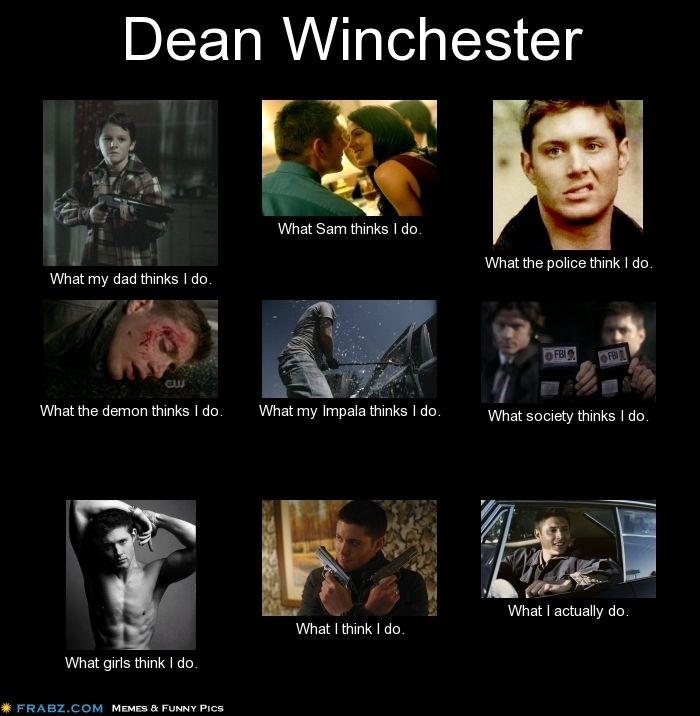 Dean Winchester, Supernatural - Meme by Linda Jackson