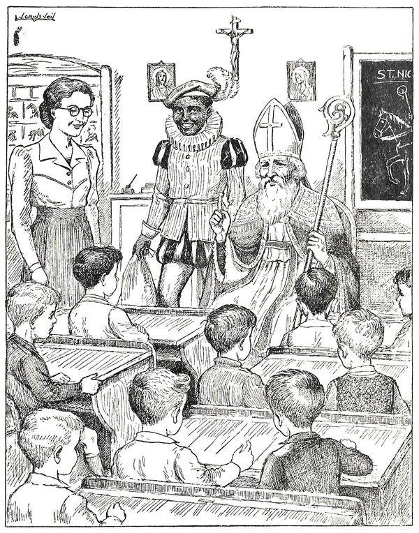 Sinterklaas gefopt 1955