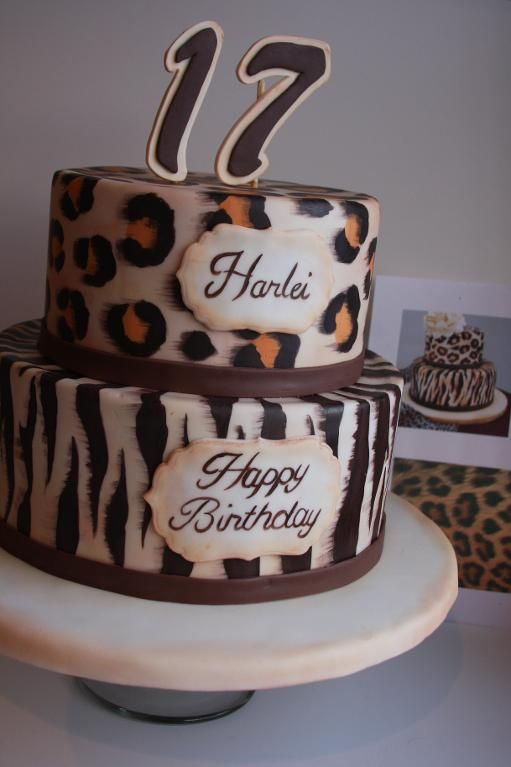 Cheetah Print Cake Decorations