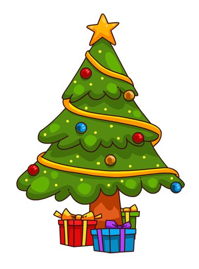 You can use this cute cartoon Christmas tree clip art on your personal or commercial projects. Use this clip art on your Christmas cards, websites and blogs ...