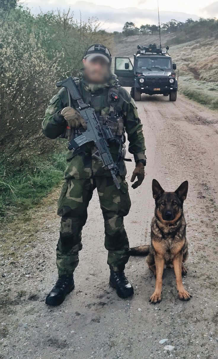 Swedish Air Force Ranger K9 handler