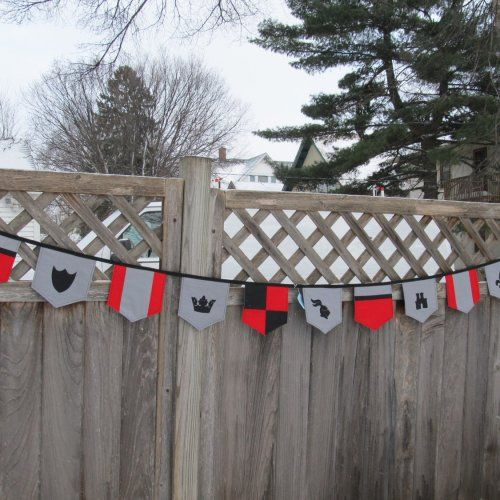 Castle bunting to decorate V's room with.