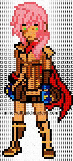 Pixel Art Minecraft Grid Anime | www.imgkid.com - The ...