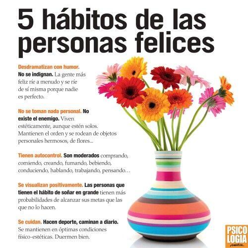 Hábitos de las personas felices