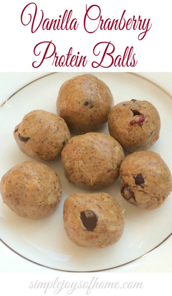 These vanilla and cranberry protein balls are super easy to make, are healthy and make a great snack.