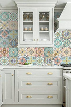 Vinyl decal self-adhesive Portuguese sticker Tiles BELEM Collection (Pack of 12)…