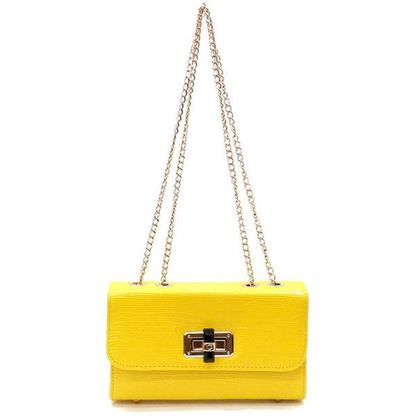 FMBG3013 YELLOW CLUTCH ❤ liked on Polyvore featuring bags, handbags, clutches, yellow purse, yellow clutches and yellow handbags
