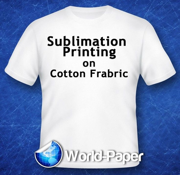 Sublimation Printing On Cotton T Shirts Light Fabric Heat