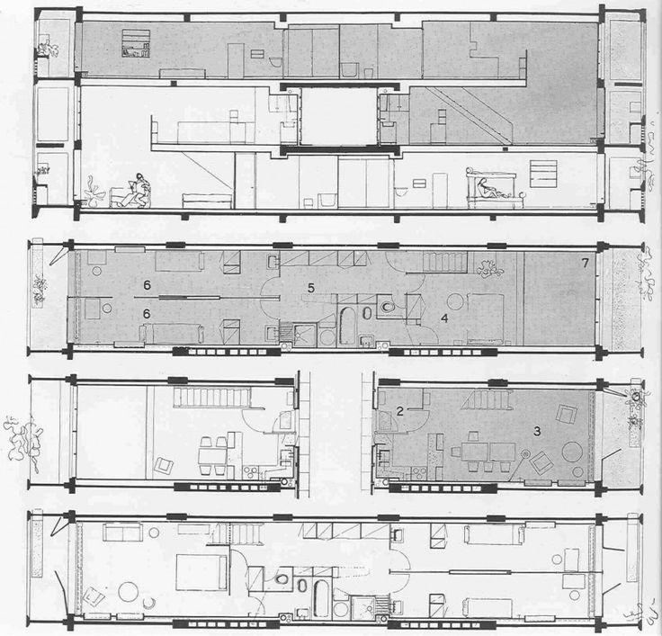 144 best le corbusier images on pinterest le corbusier for Plan habitation