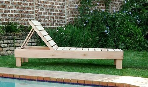 reclining sun lounger diy wood projects pinterest palletten holz und rund ums haus. Black Bedroom Furniture Sets. Home Design Ideas