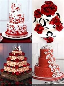 I love the color red! These cakes are gorgeous!!