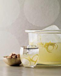 Felicitation Punch: lemon, Luxardo, soda, whiskey, gin