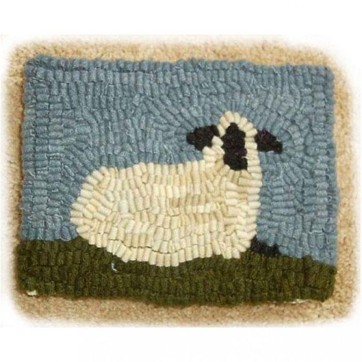 Sheep Rug Hooking Kit For Beginner Woolery Fabric Arts Suppliers