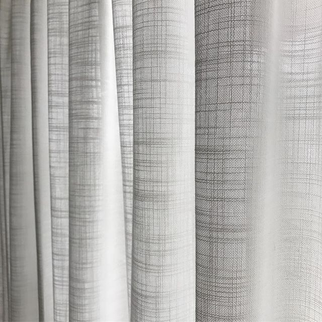 Beautiful texture on this sheer from Warwick Fabrics. We LOVE the drapes that Valley Vogue creates. These would be perfect in our living room!!