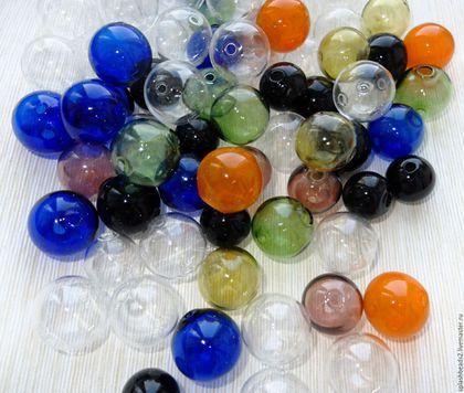 Для украшений ручной работы. Ярмарка Мастеров - ручная работа. Купить Бусины-пузыри выдувное стекло. Handmade. Разноцветный, для колье